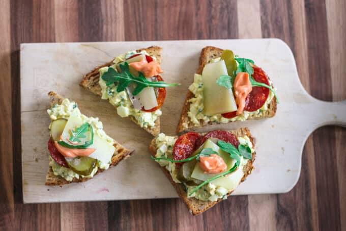 Herbed Egg Salad Tartines