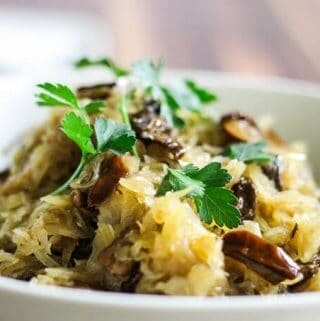 Sauerkraut and mushrooms