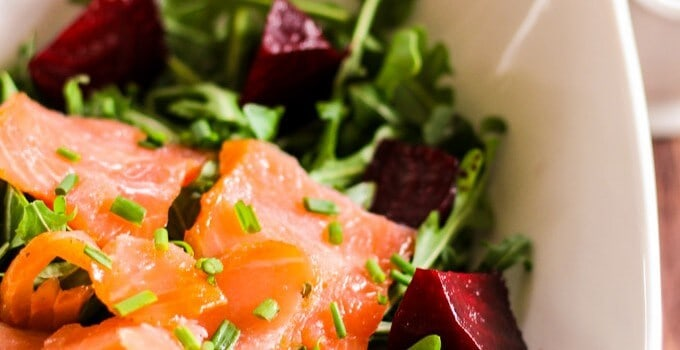 Smoked Salmon and Roasted Beets Salad