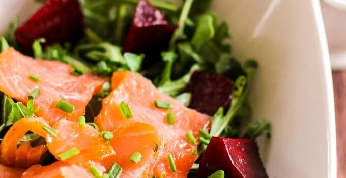 Smoked Salmon and Roasted Beets Salad