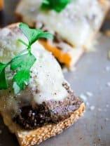 Mushroom pesto toast