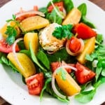 Golden beets salad with goat cheese