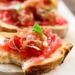 Pan con Tomate with crispy Prosciutto