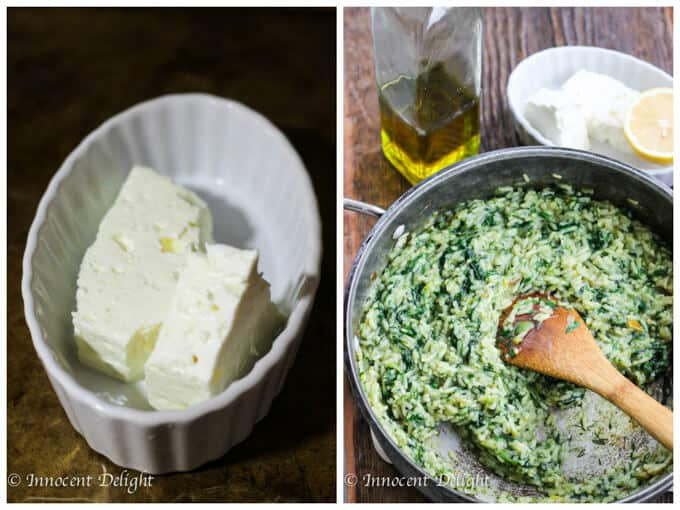 Greek Spinach Rice with Feta