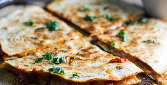 Margarita Pizza Quesadilla