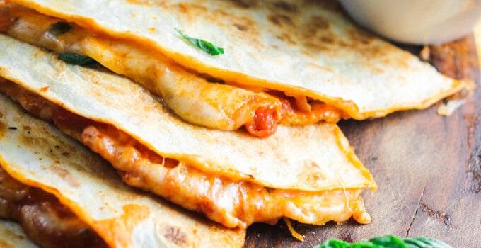 Margarita Pizza Quesadilla – ready in 20 minutes
