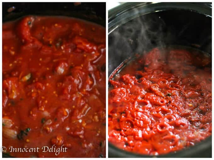 Easy Slow Cooker Tomato Sauce
