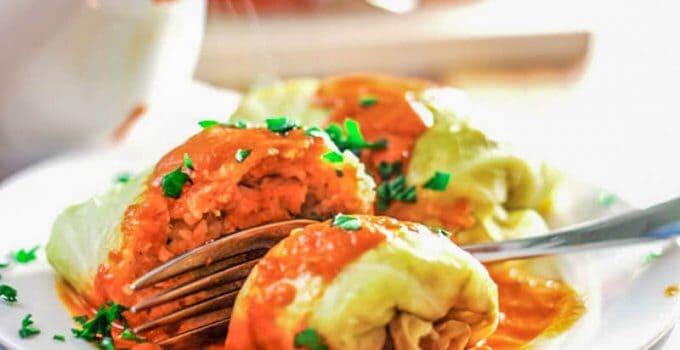 Polish Stuffed Cabbage Rolls – Skinny Golabki