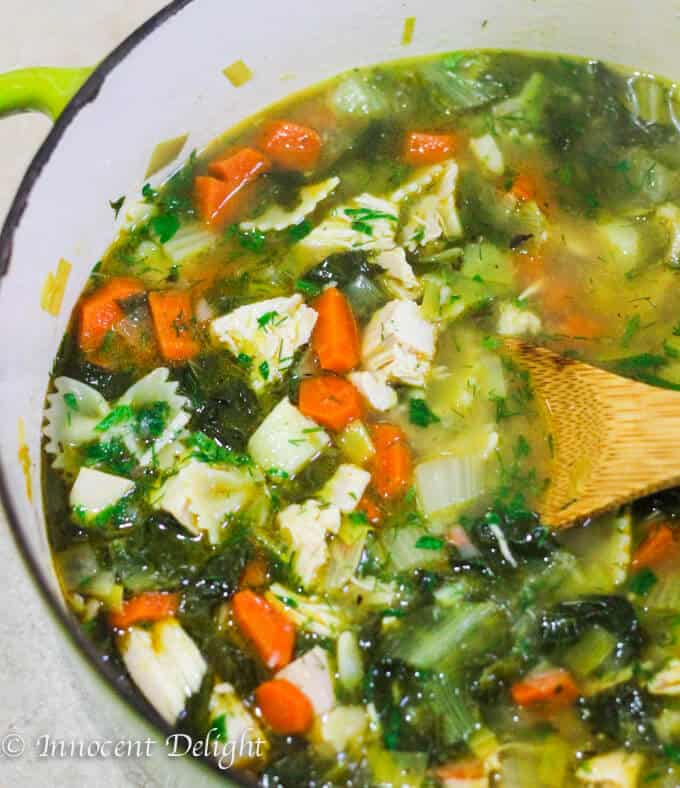 Leftovers turkey soup