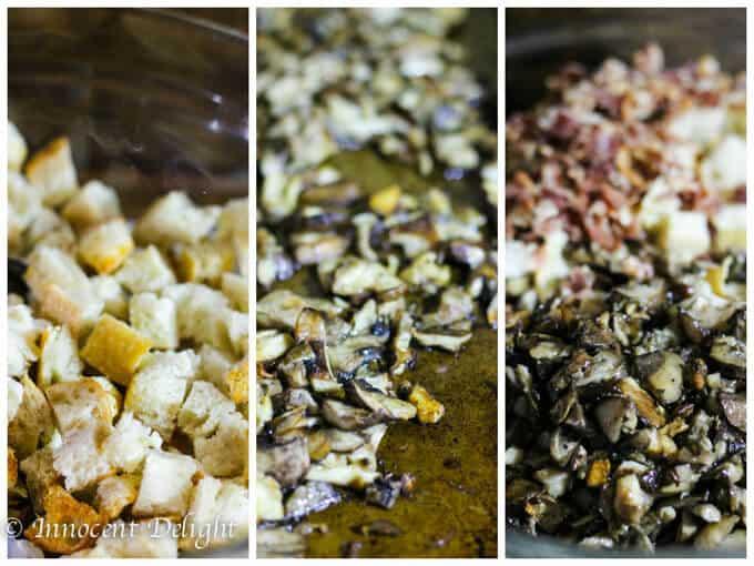 Sourdough Mushrooms Leeks and Bacon Stuffing