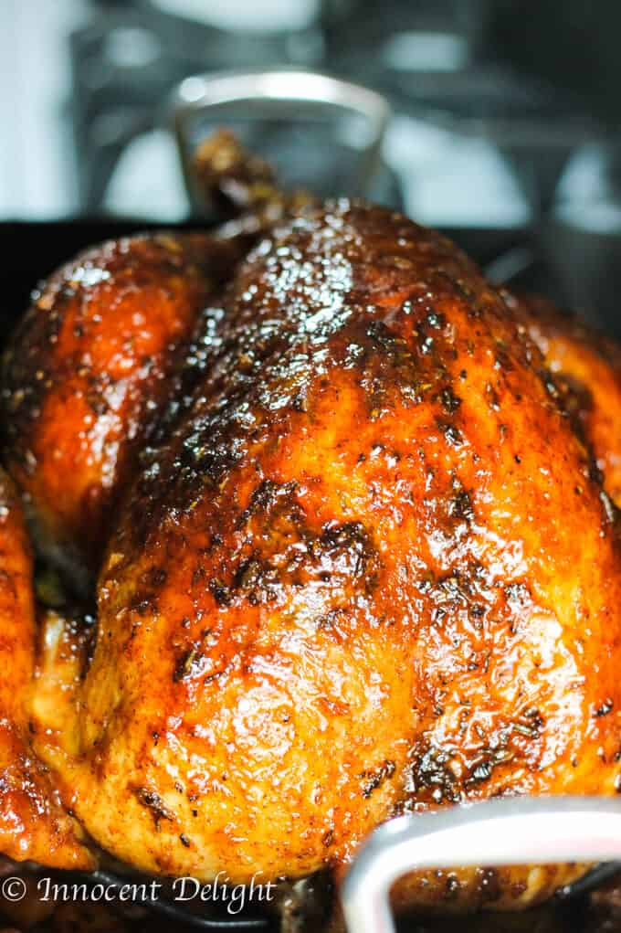 Maple Mustard Glazed Turkey