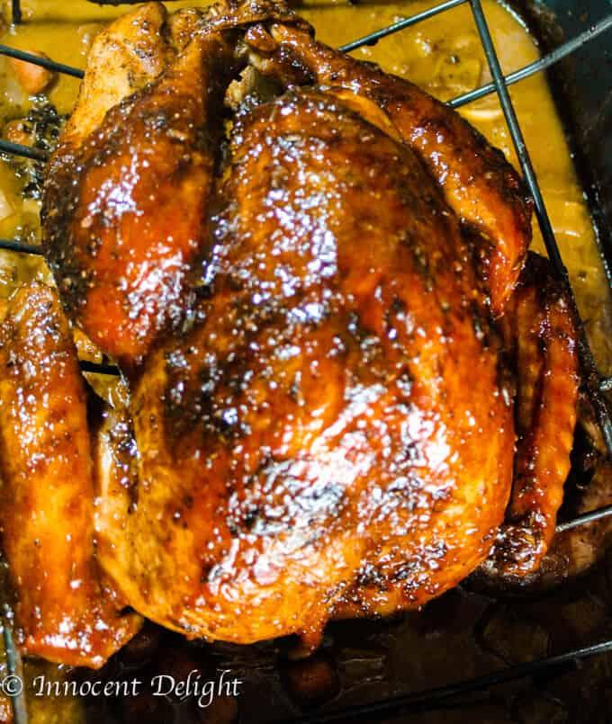 Maple Mustard Glazed Turkey