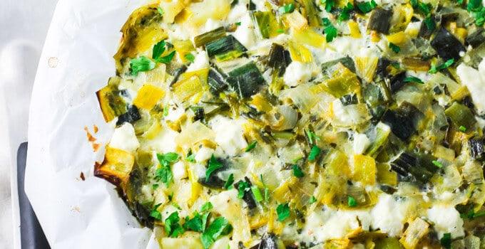 Potato Leek and Feta Pie – where French meets Greek