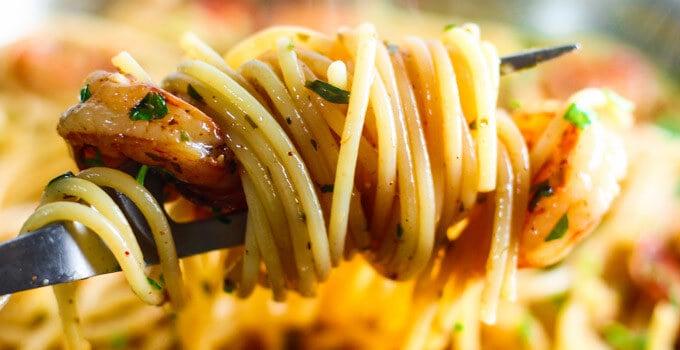 Easy Shrimp Scampi Spaghetti