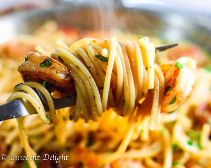 Shrimp Scampi Spaghetti
