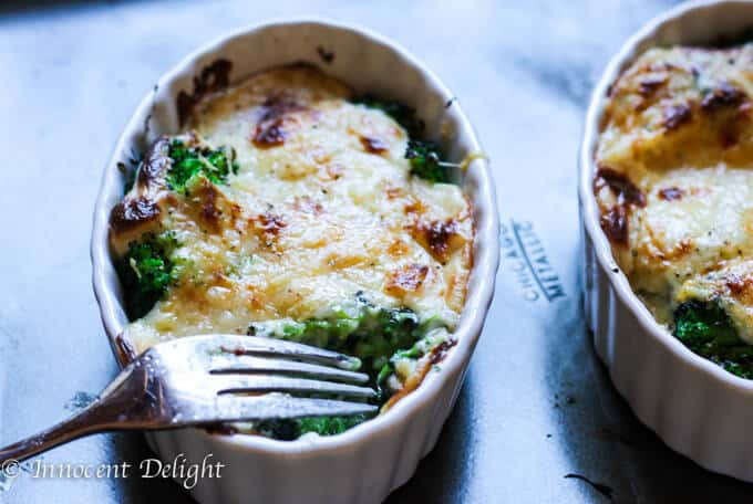 Cheese Broccoli Au Gratin