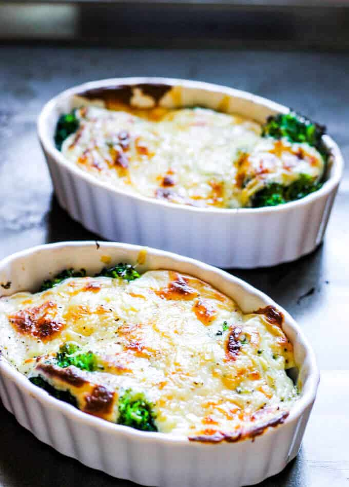 Broccoli Au Gratin is a delicious dish that features America's favorite vegetable, topped with amazing cheesy sauce that is baked to perfection. Just a few simple ingredients, mixed with the sophistication of a Gruyere cheese, marry together to make this dish both rustic and elegant. Even broccoli critics can become converts.