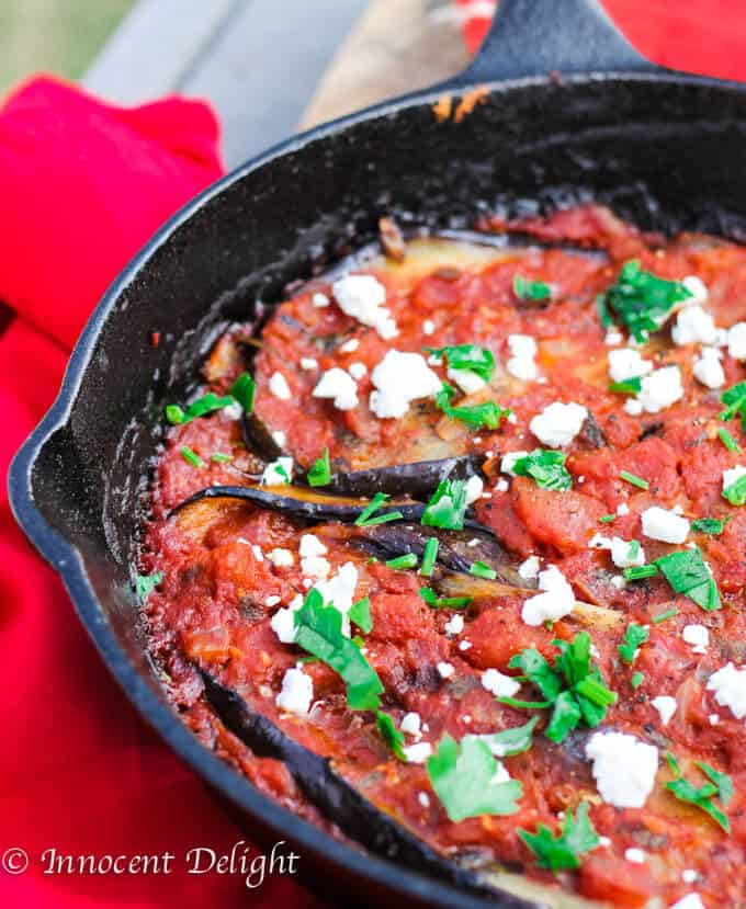 Turkish Inspired Eggplant with Tomatoes