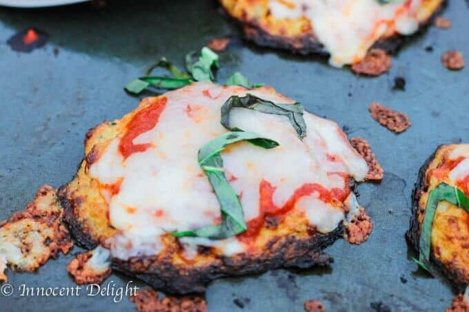 Cauliflower Crust Pizza Bites