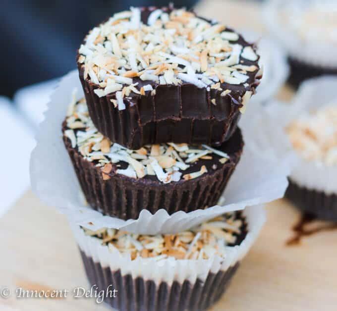 ingredients chocolate coconut fudge