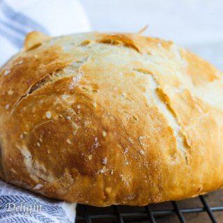 Homemade Dutch Oven Crusty Bread