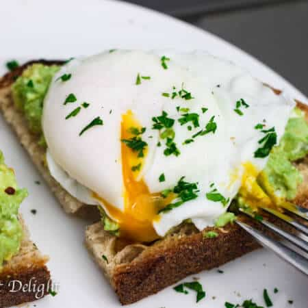 Smashed Avocado Poached Egg Toast