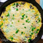 Mushroom Scallion Frittata with Parmesan Cheese