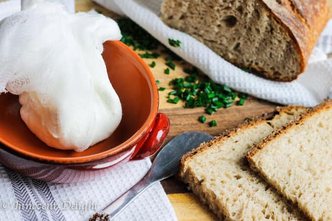 Two Ingredients Spreadable Goat Cheese