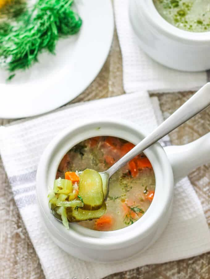 Dill Pickle Soup (Traditional Polish Recipe)
