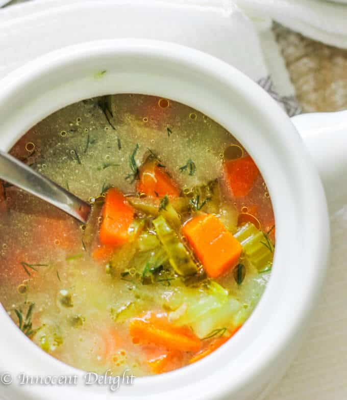 Traditional Polish Dill Pickle Soup