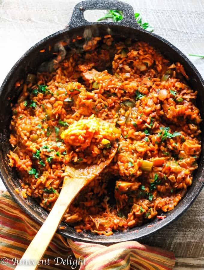 Leftover Turkey Spanish Rice