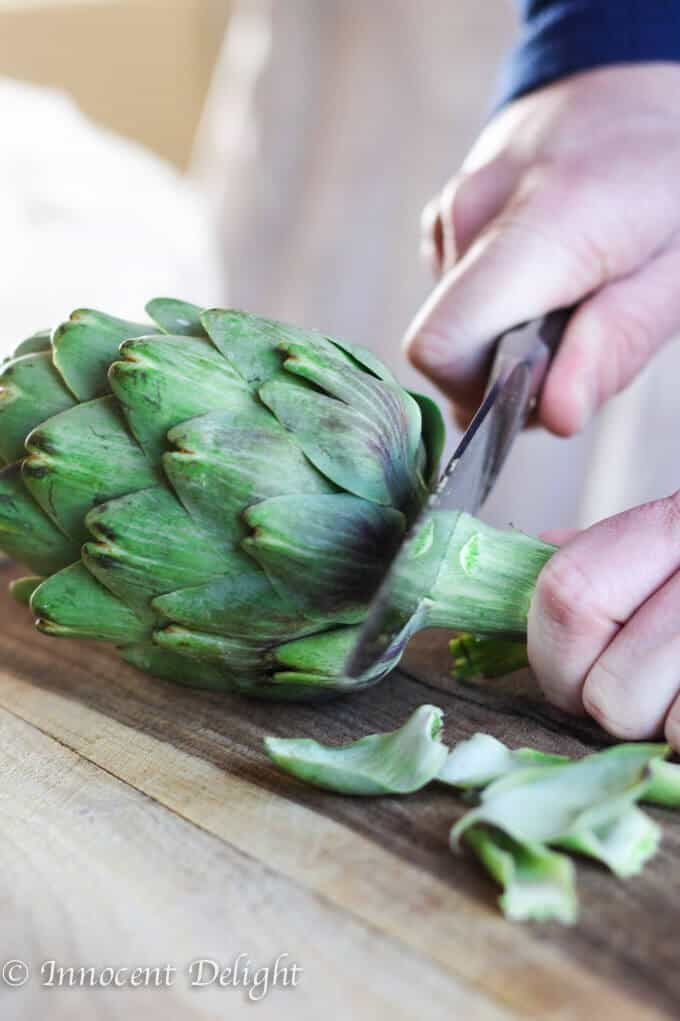 Perfectly trimmed and steamed Artichokes