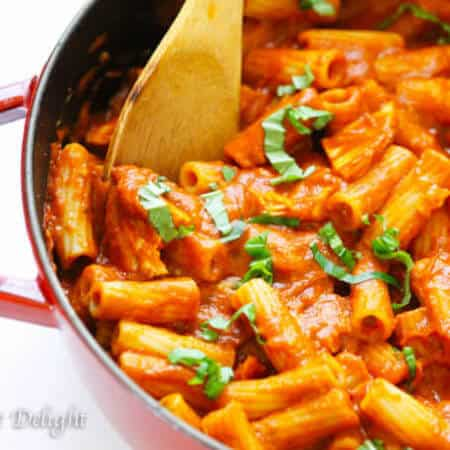 Chicken Tomato Basil Rigatoni Recipe