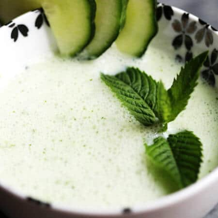Chilled Cucumber Mint Soup with Kefir Recipe