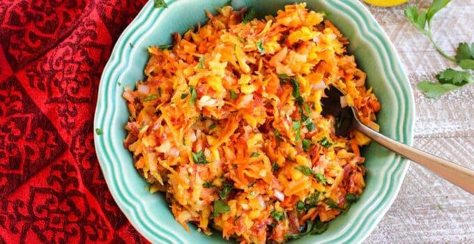 Rainbow Carrots Apple Slaw – Polish side dish