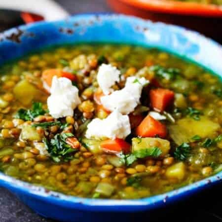 Greek Lentil Soup with Feta – Fakes