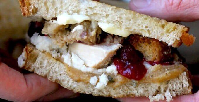 Leftover Turkey Sandwich
