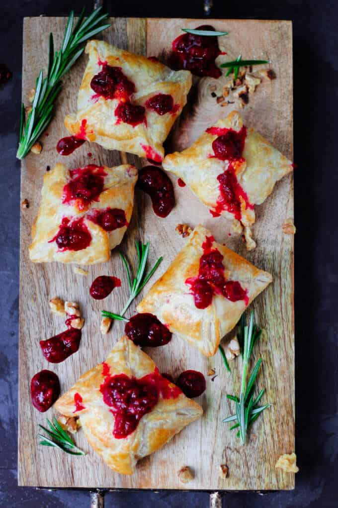 Raspberry Brie En Croute with Toasted Walnuts