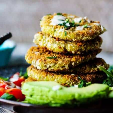Chickpea Egg Fritters with Tahini Sauce