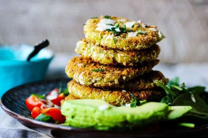 These Chickpea Egg Fritters with Tahini Sauce is a vegetarian treat for either lunch or dinner. It can be served with simple side veggies like avocados, greens and tomatoes, and in a pita bread or on a bun. The choice is yours.