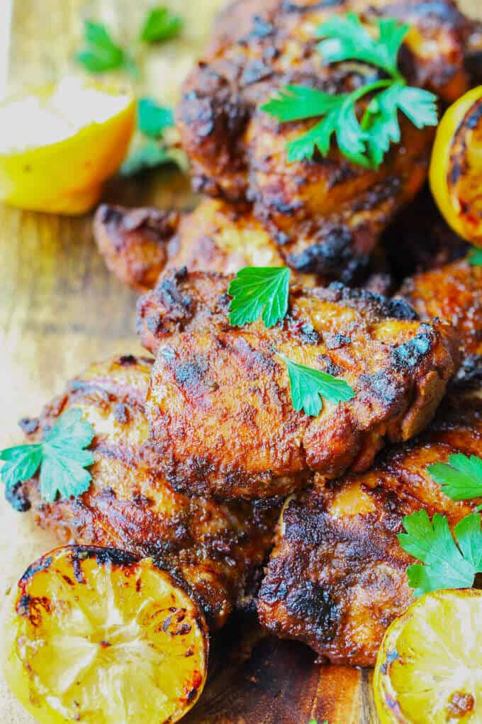 """Grilled Chicken Shawarma is an amazing dish of Middle Eastern flavors that comes together super quick, smells divine and disappears from plates in seconds. Try this chicken recipe, full of fragrant spices, for your next BBQ and you'll surely """"wow"""" all your guests."""