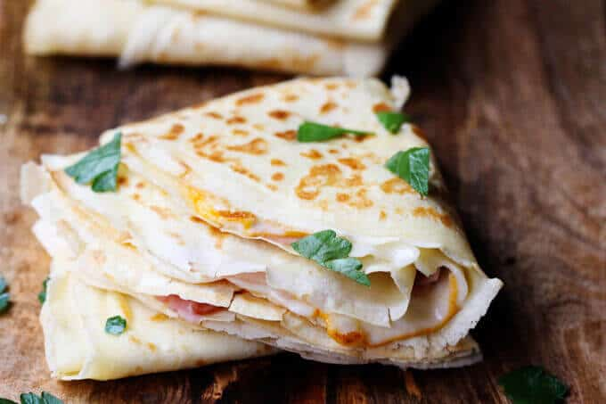 French ham and cheese crepe