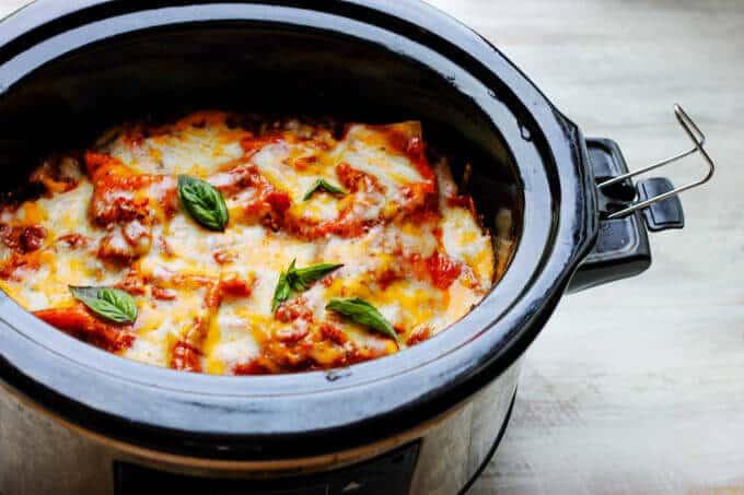 Slow Cooker Eggplant Lasagna is a perfect meal that uses seasonal ingredients like ripe eggplant and fresh basil; requires minimal preparation and it's done entirely in a slow cooker.