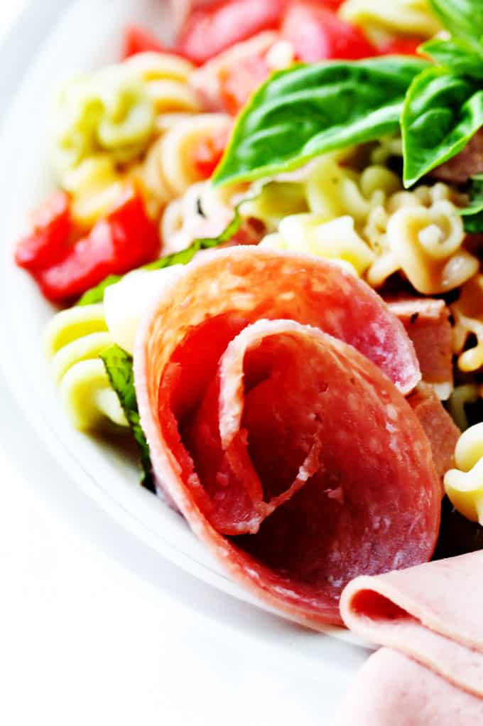 Antipasto Pasta Salad close up