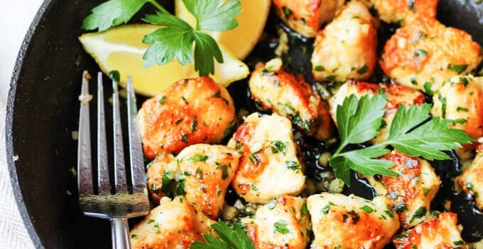 Jacques Pepin Chicken with Garlic and Parsley