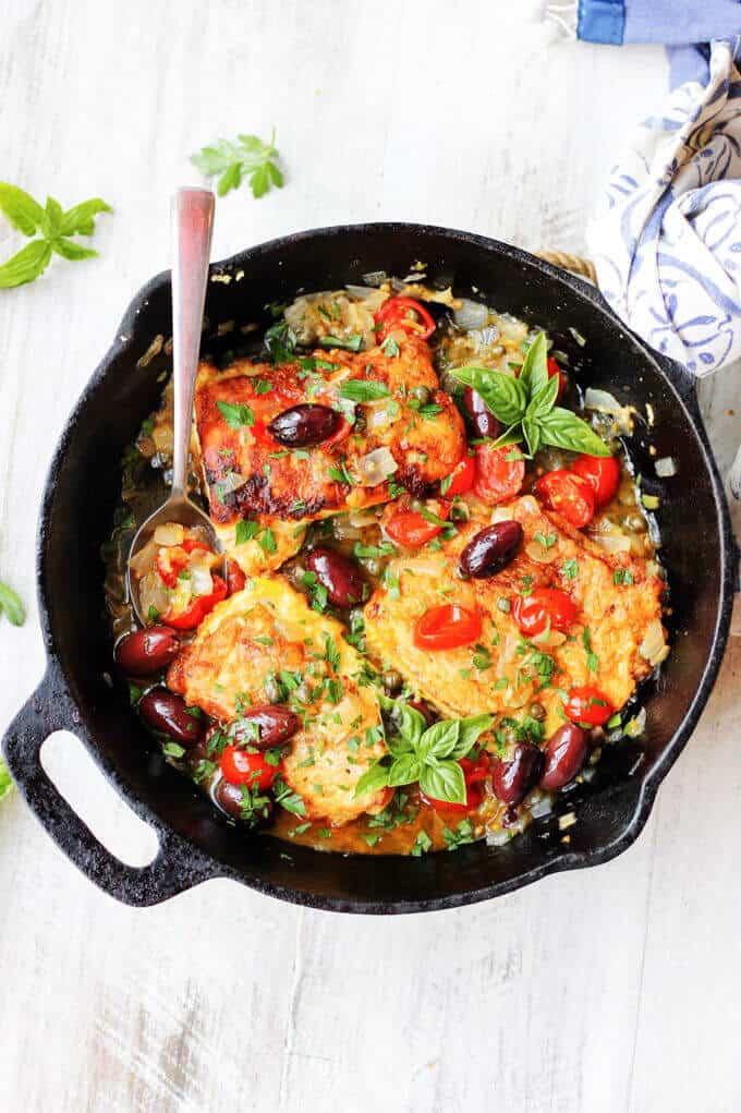 Crispy Pan Fried Haddock Mediterranean Style