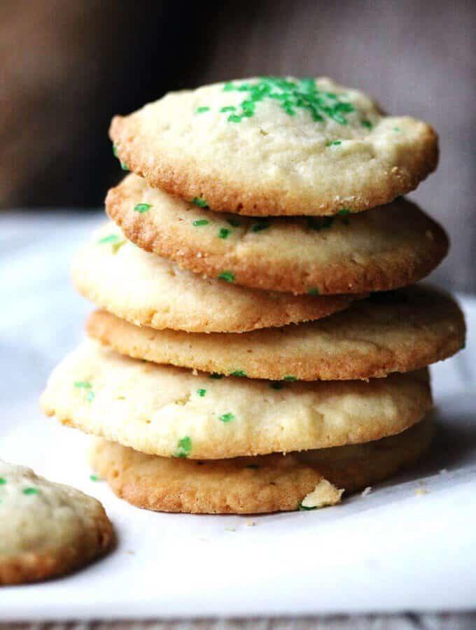 5 Ingredient Butter Vanilla Cookies