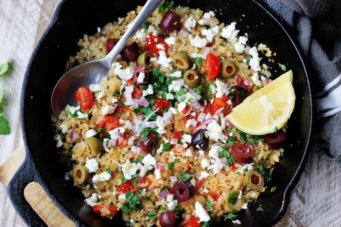 Cauliflower Fried Rice Mediterranean Style