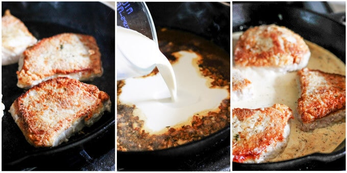 steps how to make pork chops in creamy white wine sauce