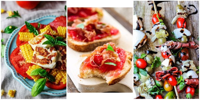 Collage of 3 Best Mediterranean Appetizers